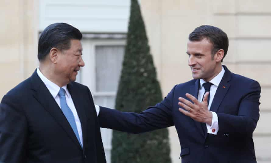 The French president, Emmanuel Macron, held meetings with his Chinese counterpart, Xi Jinping.