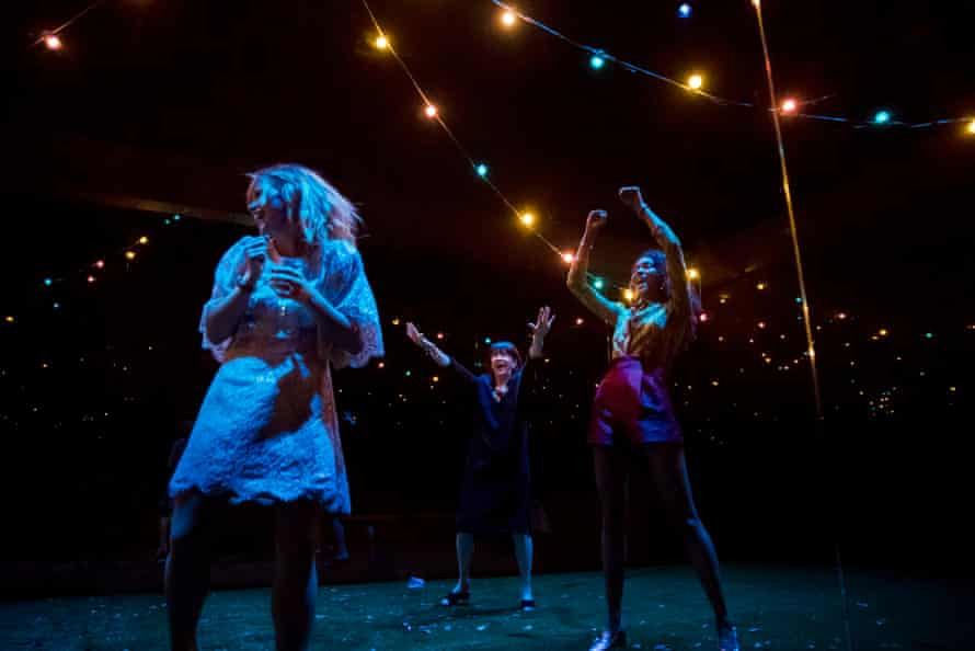 Billie Piper, Maureen Beattie and Thalissa Teixeria in Yerma at the Young Vic.