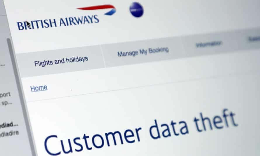 The email sent to BA customers after the data breach in 2018.
