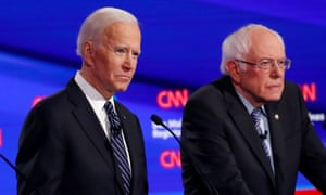 Bernie Sanders and Joe Biden at one of the Democratic debates.