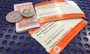 Rail tickets and money