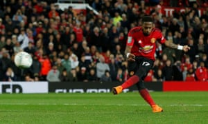 Manchester United's Fred scores