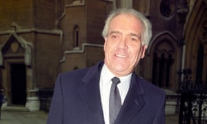 Terry Dicks outside the high court in London in 1992 after being awarded £15,000 in libel damages against his Labour election rival John McDonnell.