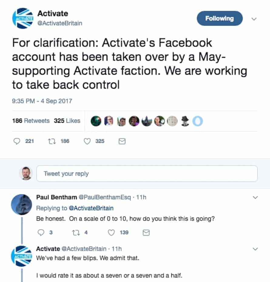 Activate's Twitter account makes a counter-claim