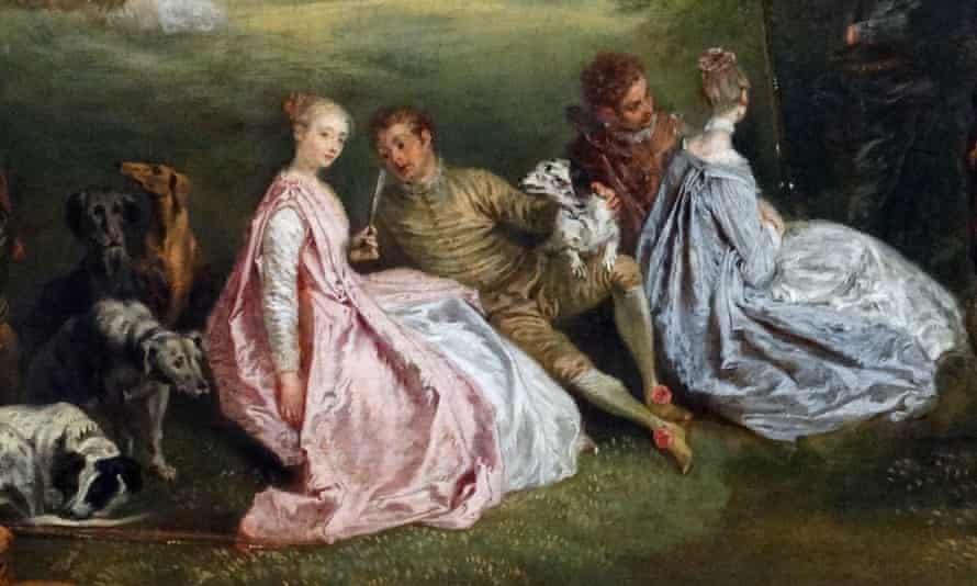 'The Halt During the Chase' by Jean-Antoine Watteau (1684-1721)