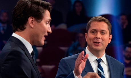 Trudeau labelled as a 'fraud' during Canadian leadership debate – video