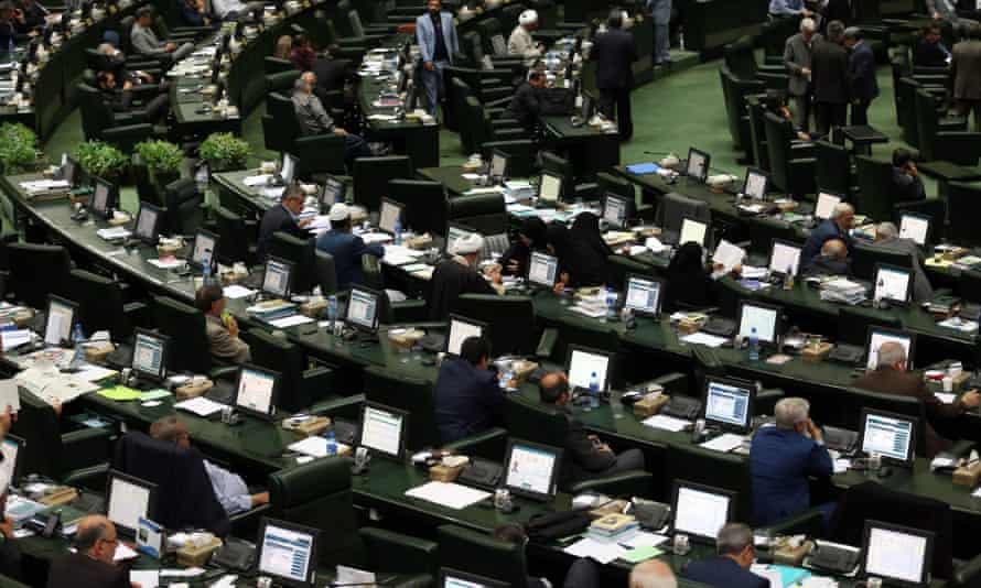 Iranian MPs in parliament