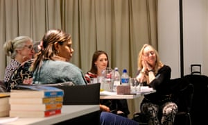 Delegates enjoy Prue Goodwin's reading session at the Guardian Education Centre Reading for pleasure conference 28 March 2019