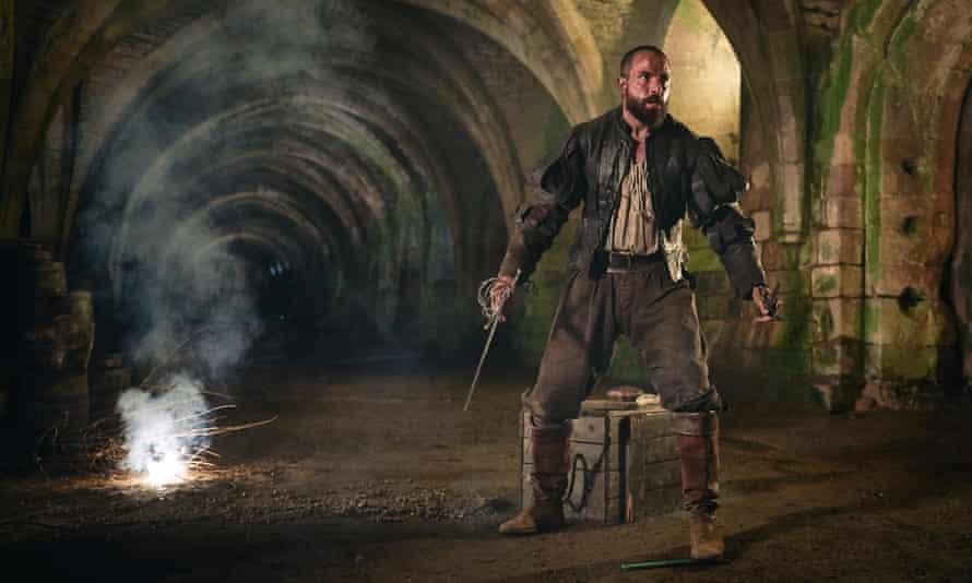 Smouldering … Tom Cullen in the TV series Gunpowder.