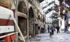 The Old City in Homs last week