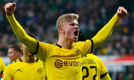 Erling Braut Haaland was on target once again for Dortmund on Saturday, as they won at Werder Bremen.