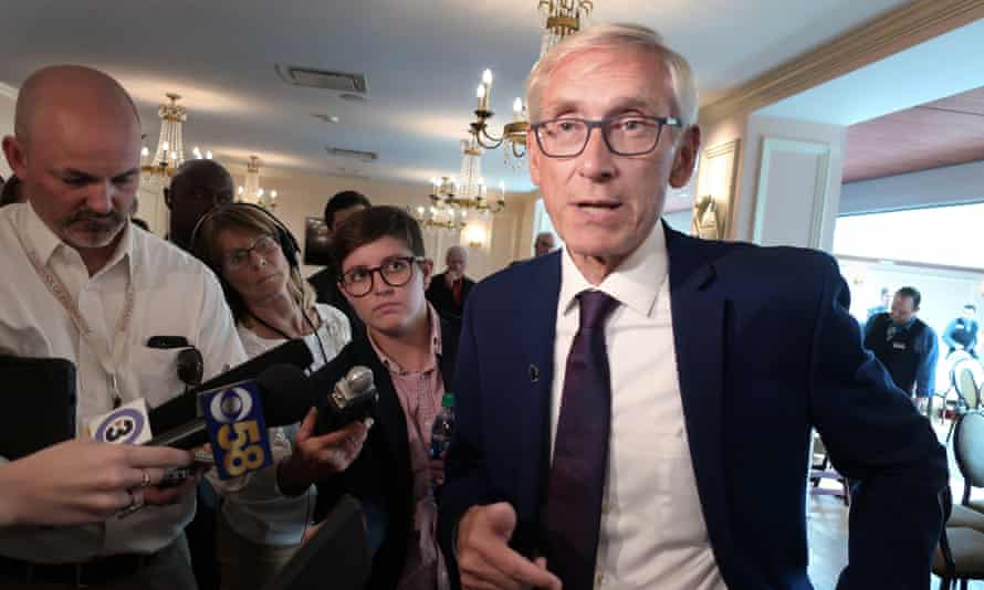 Wisconsin's governor, Tony Evers, tweeted: 'This move pushed by Republicans to remove 200,000 Wisconsinites from the voter rolls is just another attempt at overriding the will of the people and stifling the democratic process.'