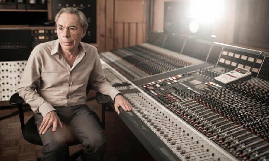 Andrew Lloyd Webber in his studio