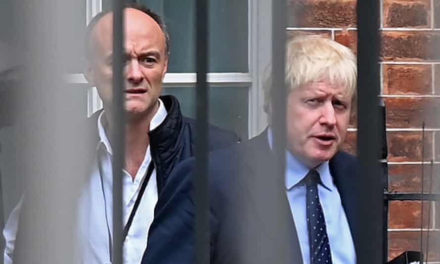 Boris Johnson (right) and his special adviser, Dominic Cummings.