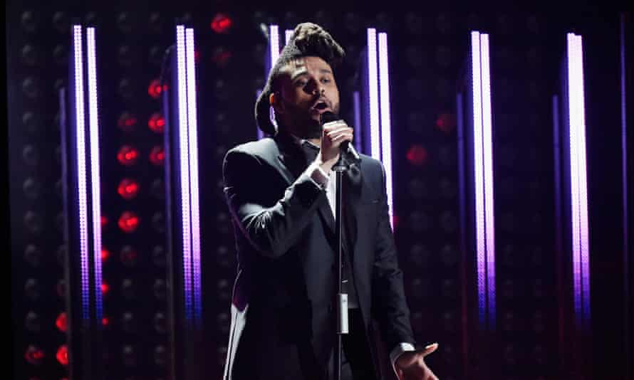 The Weeknd … Pledging his support.