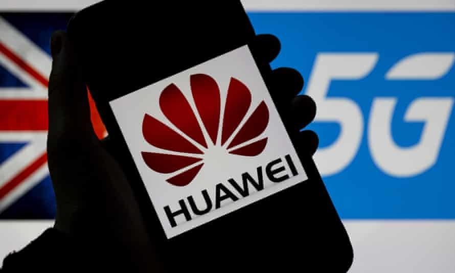 Huawei and 5G logos