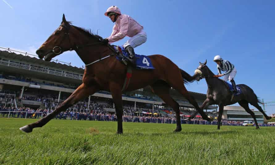 Kieren Fallon steers Now Or Never to victory in the Derrinstown Stud 1,000 Guineas Trial at Leopardstown.