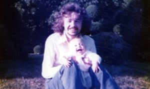 Eleanor Moran as a baby with her father