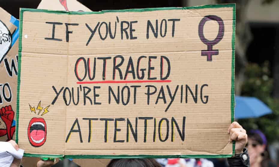 A placard at an International Women's Day rally in Melbourne