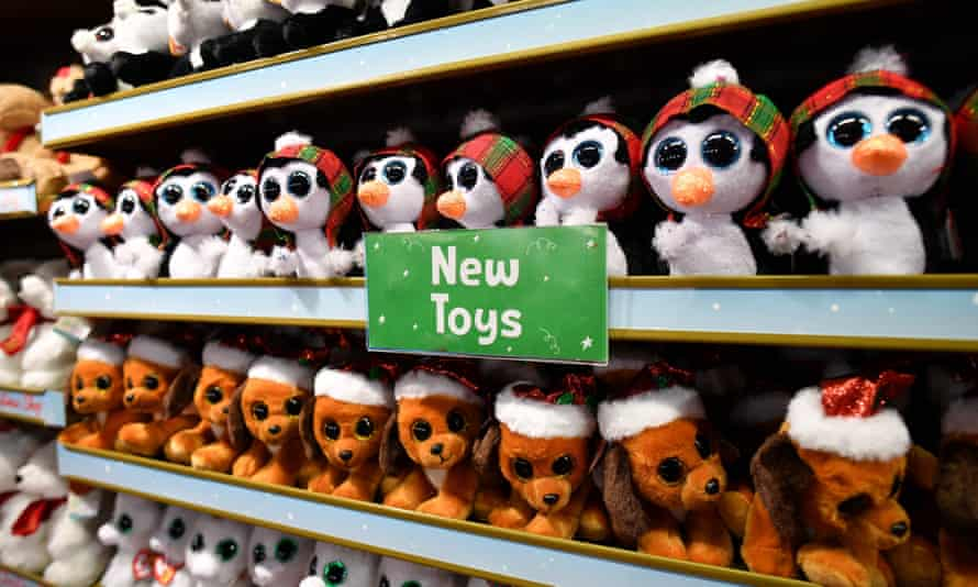 Hamleys lines up Christmas toys at its central London store on 15 October