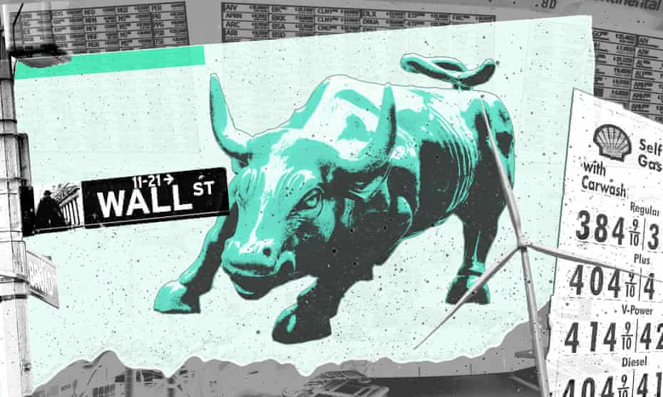 Composite of Wall Street bull and Wall Street sign.