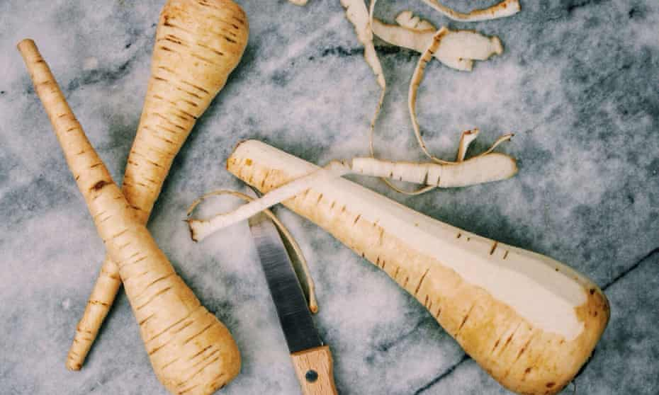 Carrot, parsnip and swede peelings can be made into a simple slaw.