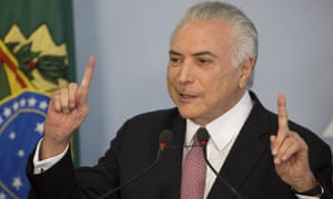 Michel Temer's approval rating has fallen to 7% less than a year after he seized power.