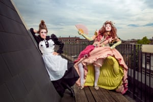 The Flick at UndergroundStumbletrip Theatre. Grace Church and Chloe Young as Frills & Spills. Profiteroles, petticoats & power games - Stumble Trip Theatre presents 'Frills & Spills'; a raucous show about privilege and class.