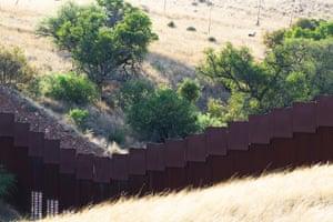 The border wall at Coronado National Memorial Park.