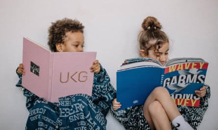 Children waring secondhand clothes from online seller Wavey Garms