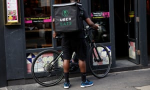 An Uber Eats courier in London.