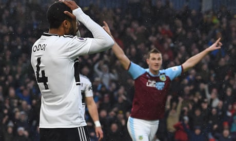 Burnley fight back to beat Fulham without a shot on target