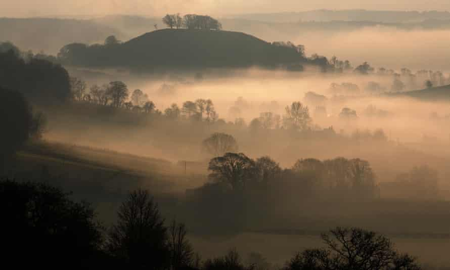 Cycles of daybreak … Downham Hill in Gloucestershire
