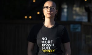 Marcela Mulholland, 21, stands outside the Civic Media Center in Gainesville, Florida on February 25, 2019. Mulholland is part of the Sunrise Movement, a grassroots organization that advocates for climate change policy.