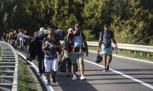 Refugees near Croatia-Serbia border