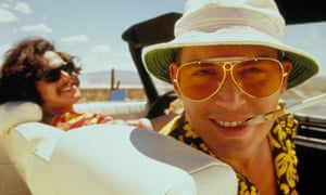 Depp as Thompson in Fear and Loathing in Las Vegas.