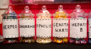Jars of sexually transmitted infections