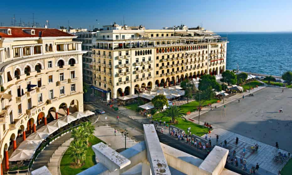 View of Aristotelous square, one of the main squares of Thessaloniki