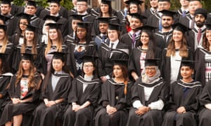 Students at a graduation ceremony