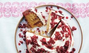 Pomegranate passion cake.