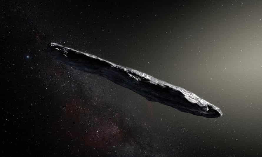 UFO ... artist's impression of Oumuamua.