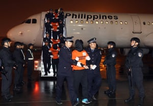 Xi'an, ChinaMore than 300 people arrested in the Philippines for telecom network fraud are repatriated to China