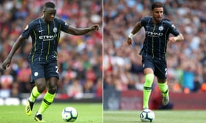 Full-backs Benjamin Mendy and Kyle Walker played a key part in Manchester City's 2-0 win at Arsenal.