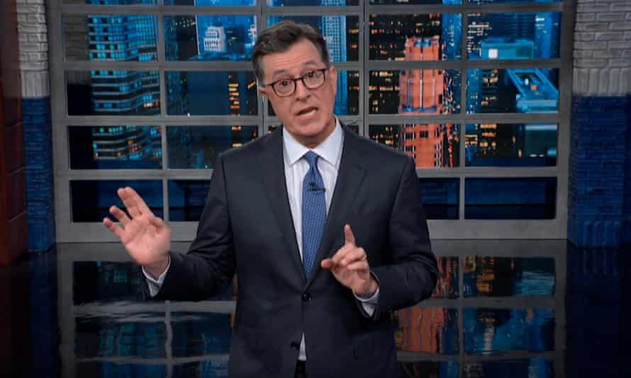"""Stephen Colbert: """"You know things are bad when the National Weather Service has to fact check the president."""""""