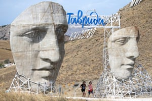CrimeaVisitors attend the 5th Tavrida art festival near the town of Sudak (Caption amended 23 August 2019 : Crimea was annexed from Ukraine by Russia in 2014)