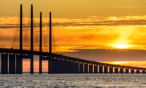 The Øresund bridge between Copenhagen in Denmark and Malmö in Sweden
