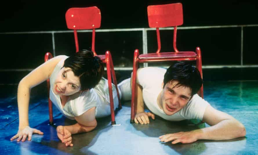 Eileen Walsh and Cillian Murphy in the 1997 production of Disco Pigs