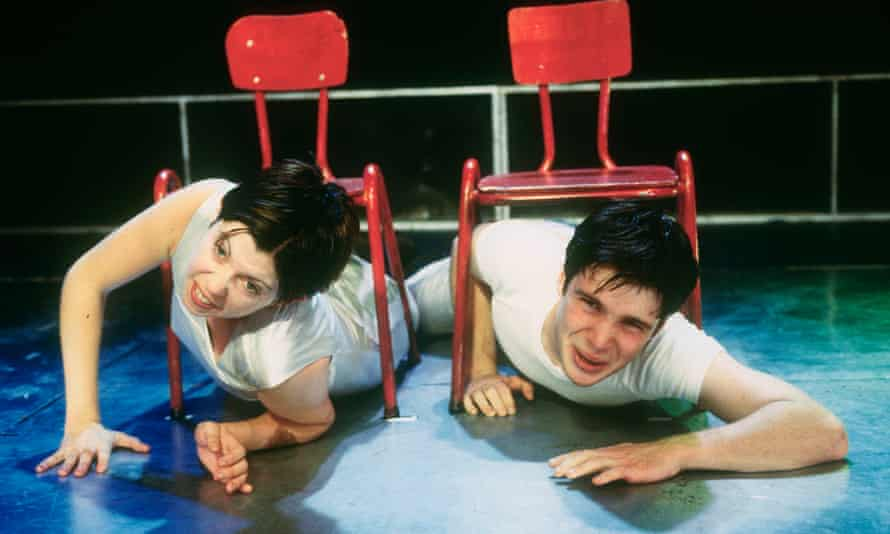 With Eileen Walsh In Disco Pigs in 1997.
