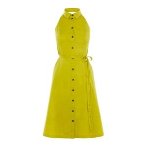 Lime halterneck dress