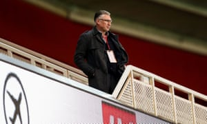 Nigel Pearson watched on from the stands as Bristol City beat Middlesbrough.